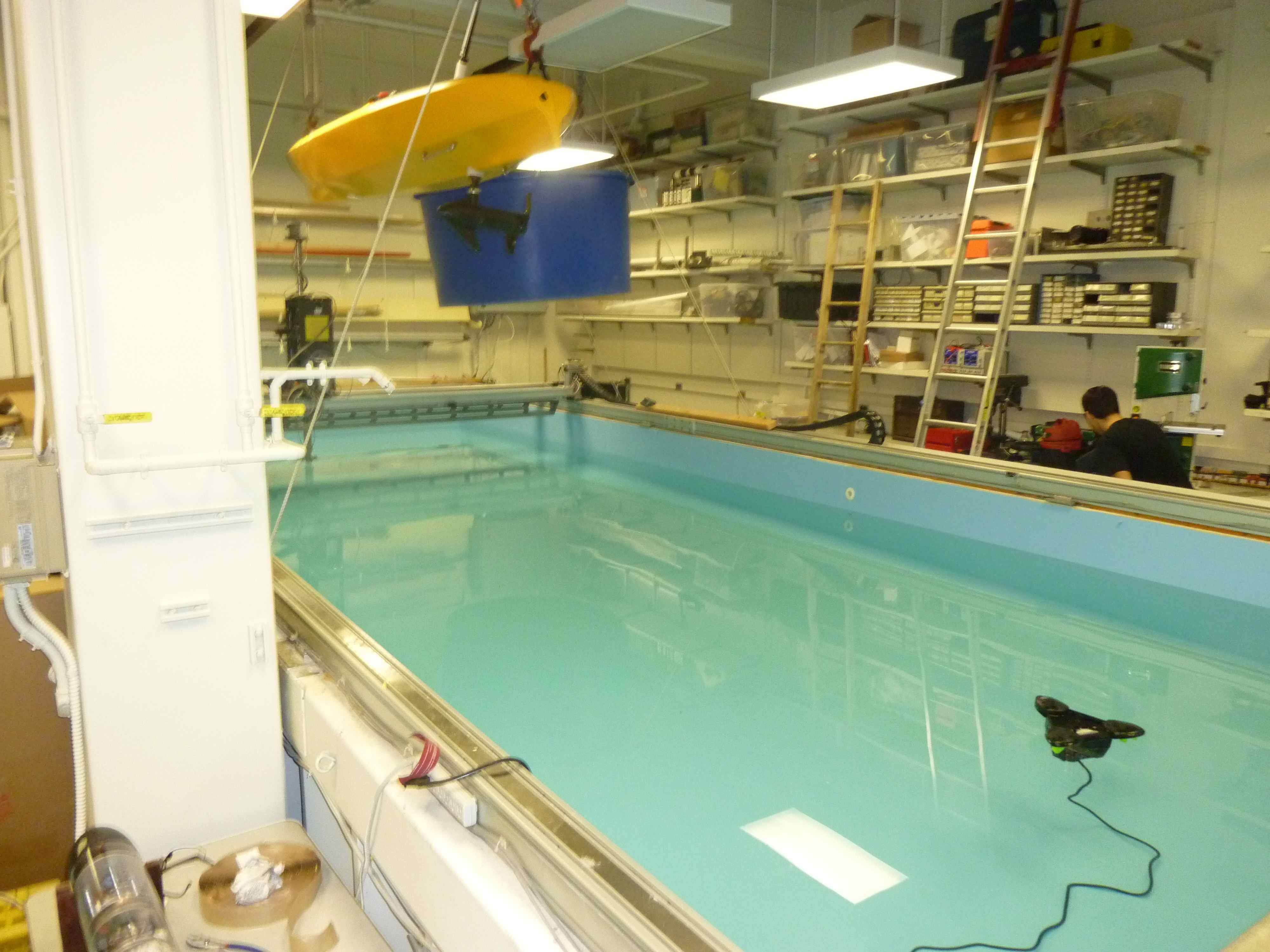 Autonomous underwater vehicle lab at MIT
